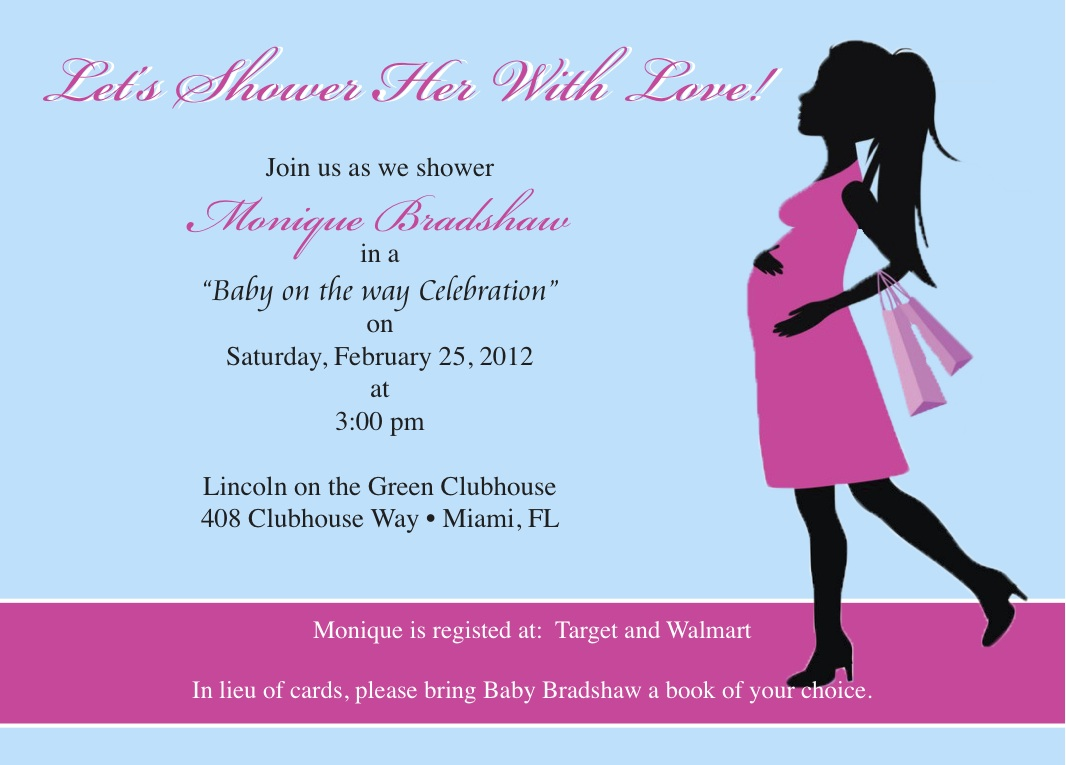 baby shower invitation baby bump 2